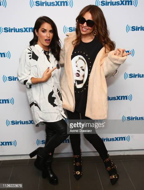 Singers Thalia and Lali Esposito visit the SiriusXM Studios on January 30 2019 in New York City