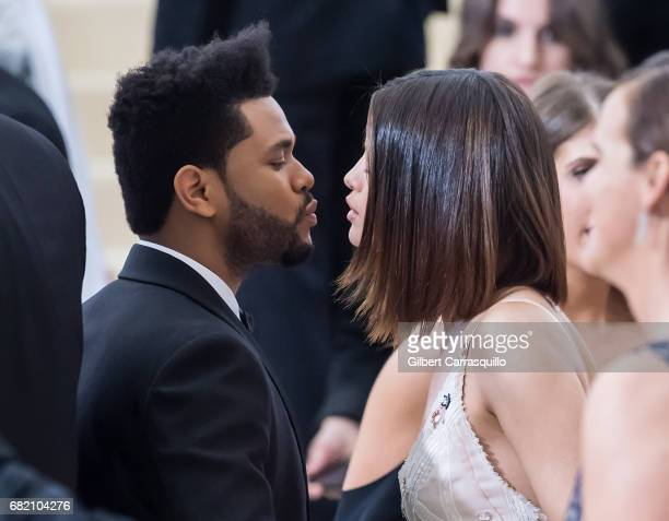Singers The Weeknd and Selena Gomez are seen at the 'Rei Kawakubo/Comme des Garcons Art Of The InBetween' Costume Institute Gala at Metropolitan...