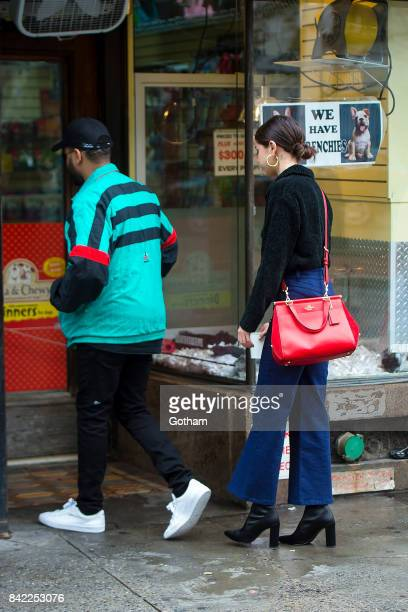 Singers The Weeknd and Selena Gomez are seen in the West Village on September 3 2017 in New York City