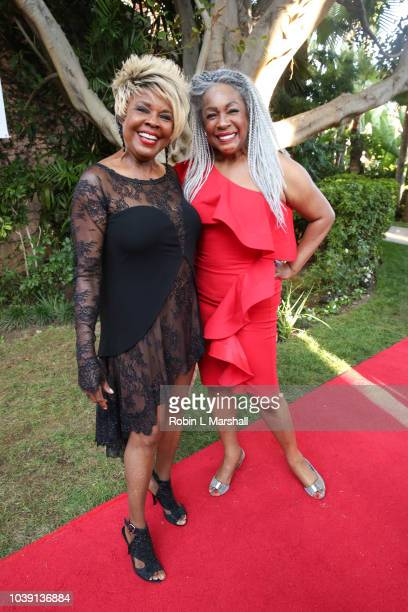 Singers Thelma Houston and Mary Wilson attend the 29th Annual Heroes And Legends Awards at Beverly Hills Hotel on September 23 2018 in Beverly Hills...