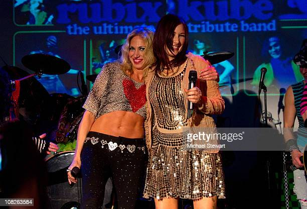 Singers Tiffany and Debbie Gibson perform during the Back To The Eighties Show on January 22, 2011 in New York, United States.