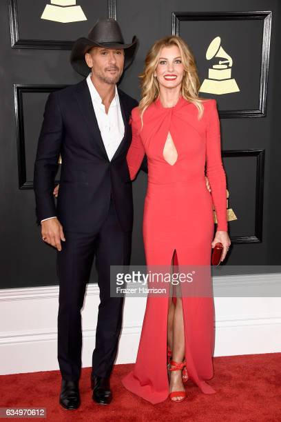 Singers Tim McGraw and Faith Hill attend The 59th GRAMMY Awards at STAPLES Center on February 12 2017 in Los Angeles California