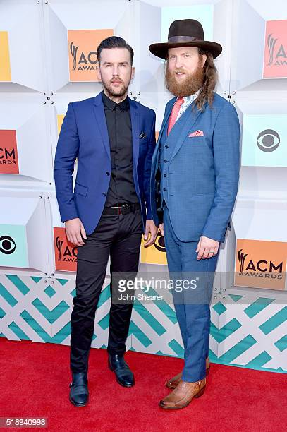 Singers TJ Osborne and John Osborne of Brothers Osborne attend the 51st Academy of Country Music Awards at MGM Grand Garden Arena on April 3 2016 in...