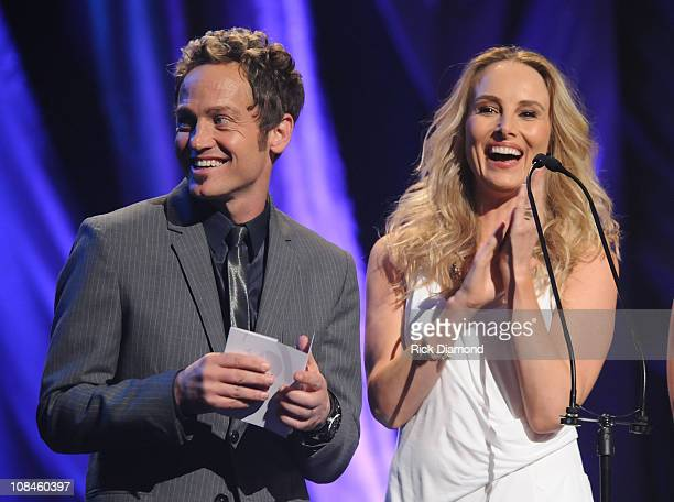 Singers tobyMac and Chynna Phillips onstage at the 40th Annual GMA Dove Awards held at the Grand Ole Opry House on April 23 2009 in Nashville...