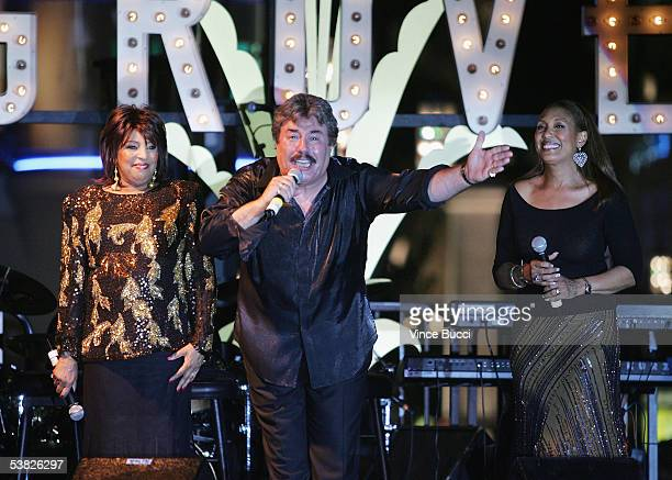 Singers Tony Orlando Telma Hopkins and Joyce Vincent perform at the reunion concert and DVD premiere for the musical group Tony Orlando and Dawn on...