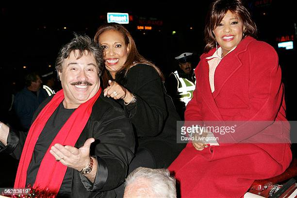 Singers Tony Orlando Telma Hopkins and Joyce Vincent ride in the 2005 Hollywood Christmas Parade on November 27 2005 in Hollywood California The...