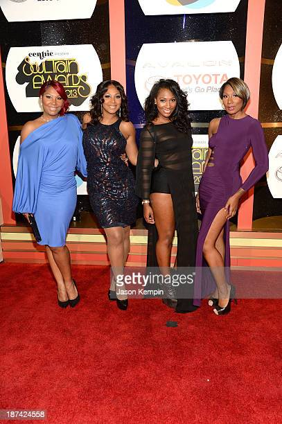 Singers Traci Braxton, Trina Braxton, Ashlee Braxton and Towanda Braxton attend the Soul Train Awards 2013 at the Orleans Arena on November 8, 2013...