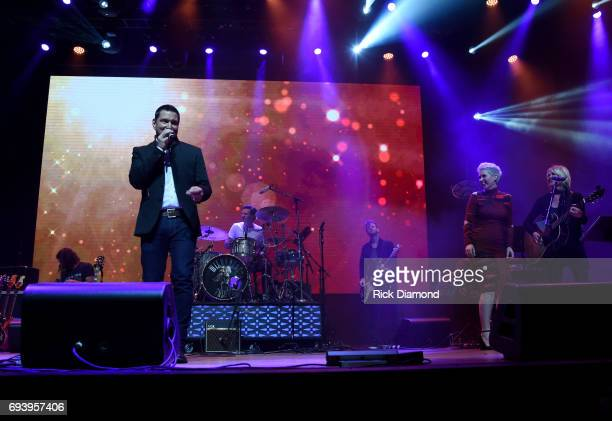 Singers Ty Herndon and Shawna Thompson perform onstage during the 2017 Concert for Love Acceptance on June 8 2017 in Nashville Tennessee