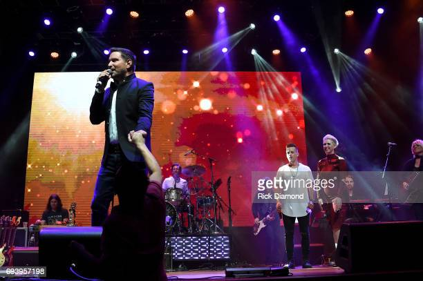 Singers Ty Herndon Keifer Thompson and Shawna Thompson perform onstage during the 2017 Concert for Love Acceptance on June 8 2017 in Nashville...
