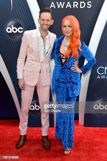 Singers Tyler Cain and Meghan Linsey attend the 52nd annual CMA Awards at the Bridgestone Arena on November 14 2018 in Nashville Tennessee