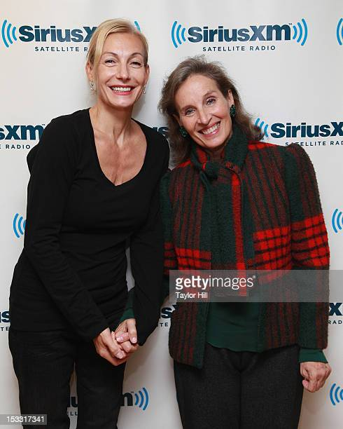 Singers Ute Lemper and Andrea Marcovicci visit the SiriusXM Studio on October 3 2012 in New York City