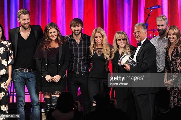 Singers Vanessa Carlton Charles Kelley Hillary Scott Dave Haywood Shakira Del Bryant BMI President singers Adam Levine of Maroon 5 and Sheryl Crow...