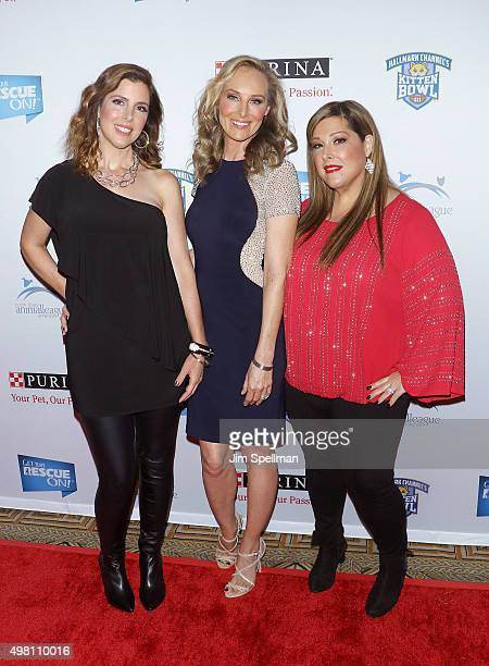 Singers Wendy Wilson Chynna Phillips and Carnie Wilson attend the 2015 North Shore Animal League America Gala at The Pierre Hotel on November 20 2015...