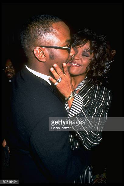 Singers Whitney Houston and Bobby Brown at the Plaza hotel
