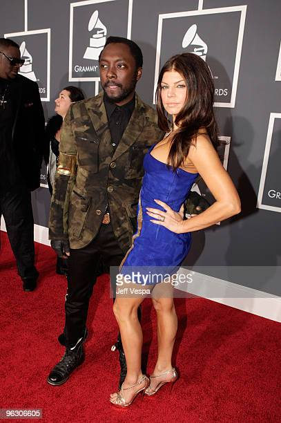 Singers william and Fergie of the Black Eyed Peas arrive at the 52nd Annual GRAMMY Awards held at Staples Center on January 31 2010 in Los Angeles...