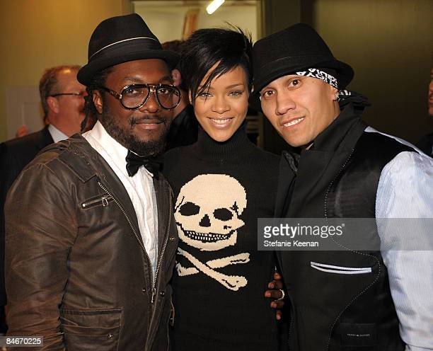 Singers william Rihanna and Taboo attend the Black Eyed Peas Peapod Foundation benefit concert presented by Adobe Youth Voices inside the Conga Room...