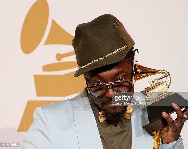 Singers william winner of the Best Urban/Alternative Performance award for Be OK poses in the press room during the 51st Annual Grammy Awards held at...