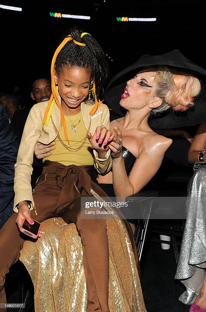 Singers Willow Smith and Lady Gaga attend The 53rd Annual GRAMMY Awards held at Staples Center on February 13, 2011 in Los Angeles, California.