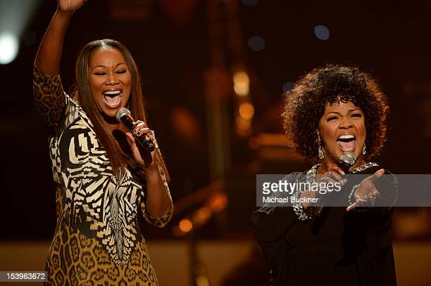 """Singers Yolanda Adams and CeCe Winans perform onstage during """"We Will Always Love You: A GRAMMY Salute to Whitney Houston"""" at Nokia Theatre L.A. Live..."""