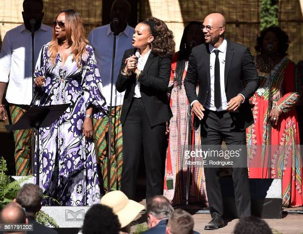 Singers Yolanda Adams Andra Day and Common Oprah Winfrey's Gospel Brunch celebrating her new book Wisdom of Sundays on October 15 2017 in Montecito...