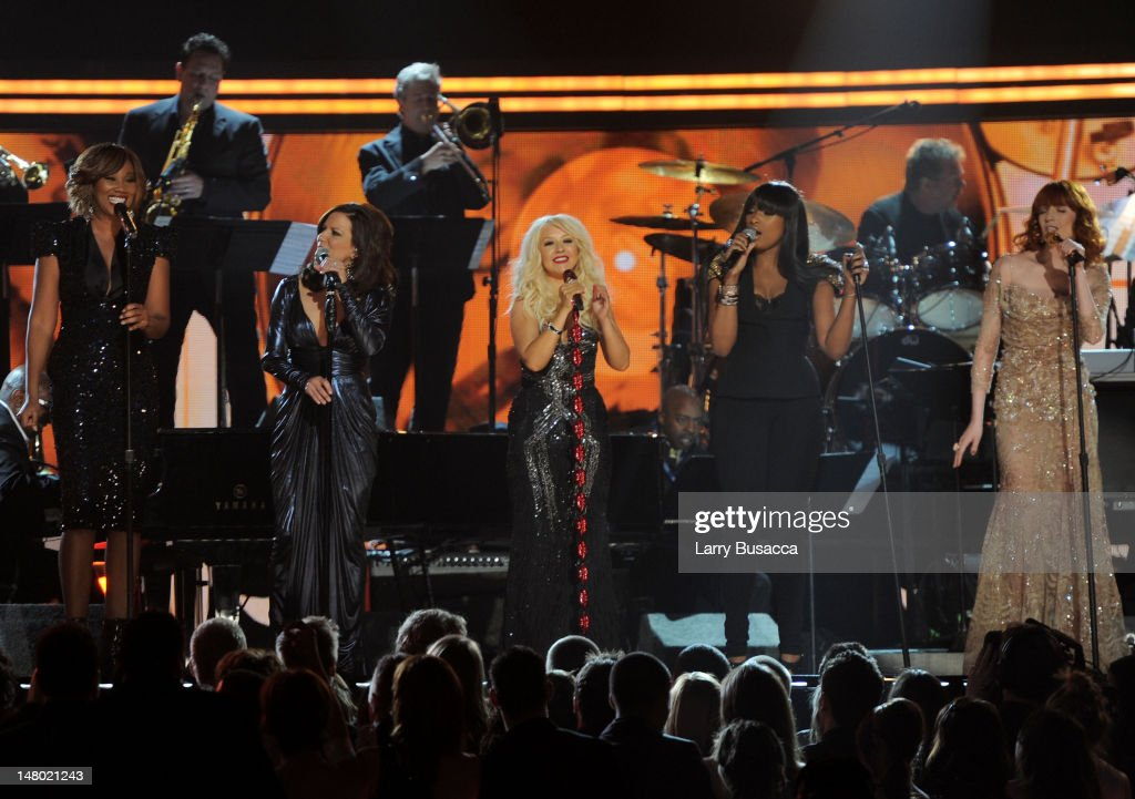 Singers Yolanda Adams; Martina McBride, Christina Aguilera, Jennifer Hudson and Florence Welch attends The 53rd Annual GRAMMY Awards held at Staples Center on February 13, 2011 in Los Angeles, California.