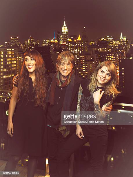 Singers ZAZ JeanLouis Aubert and Coeur de Pirate are photographed for Paris Match on September 19 2013 in New York City