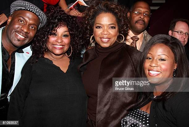Singers/Actors BeBe Winans Chaka Khan Producer Oprah Winfrey and LaKisha Jones pose at The Celebration for Chaka Khan BeBe Winans and Lakisha Jones...