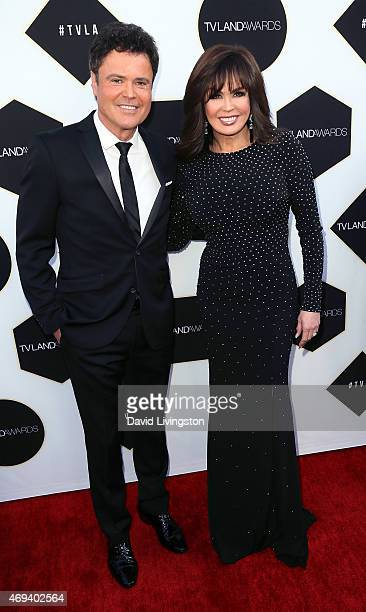 Singers/brother sister Donny Osmond and Marie Osmond attend the 2015 TV Land Awards at the Saban Theatre on April 11 2015 in Beverly Hills California