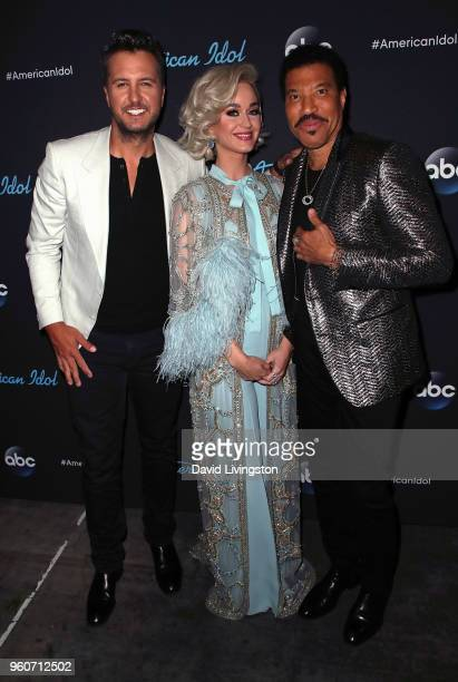 Singers/judges Luke Bryan Katy Perry and Lionel Richie attend ABC's 'American Idol' on May 20 2018 in Los Angeles California