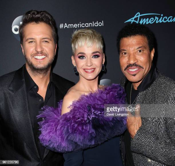 Singers/judges Luke Bryan Katy Perry and Lionel Richie attend ABC's 'American Idol' Finale on May 21 2018 in Los Angeles California