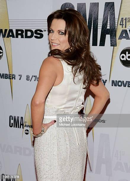 Singer/Songrwriter Martina McBride arrives at the 41st Annual CMA Awards at the Sommet Center on November 7 2007 in Nashville TN