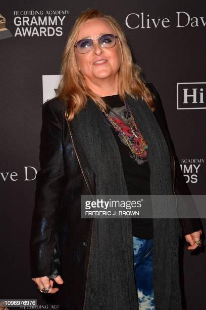 US singersongrwriter Melissa Etheridge arrives for the traditional Clive Davis party on the eve of the 61th Annual Grammy Awards at the Beverly...