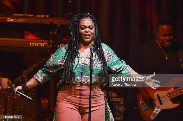 Singer/Songstress Jill Scott performs on stage at the Fox Theatre on July 14 2019 in Detroit Michigan