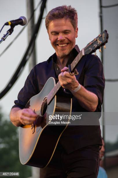 Singer/songwrighter Josh Ritter and the Royal City Band performs during the 2014 Green River Festival at Greenfield Community College on July 13 2014...