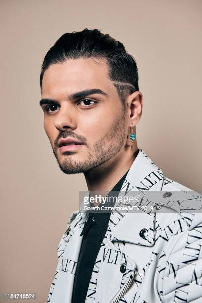 Singer-songwriter Abraham Mateo poses for a portrait at the MTV EMAs 2019 studio at FIBES Conference and Exhibition Centre on November 3, 2019 in...