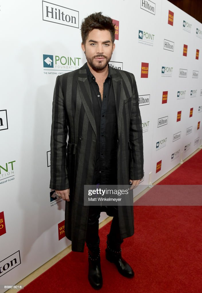 Singer/songwriter Adam Lambert at Point Honors Los Angeles 2017, benefiting Point Foundation, at The Beverly Hilton Hotel on October 7, 2017 in Beverly Hills, California.