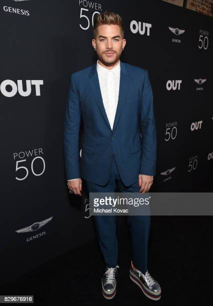 Singer/songwriter Adam Lambert attends OUT Magazine's OUT POWER 50 gala and award presentation presented by Genesis on August 10 2017 in Los Angeles...