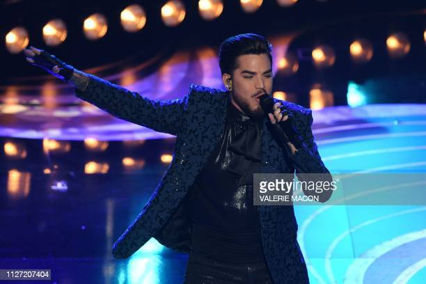 US singersongwriter Adam Lambert performs during the 91st Annual Academy Awards at the Dolby Theatre in Hollywood California on February 24 2019
