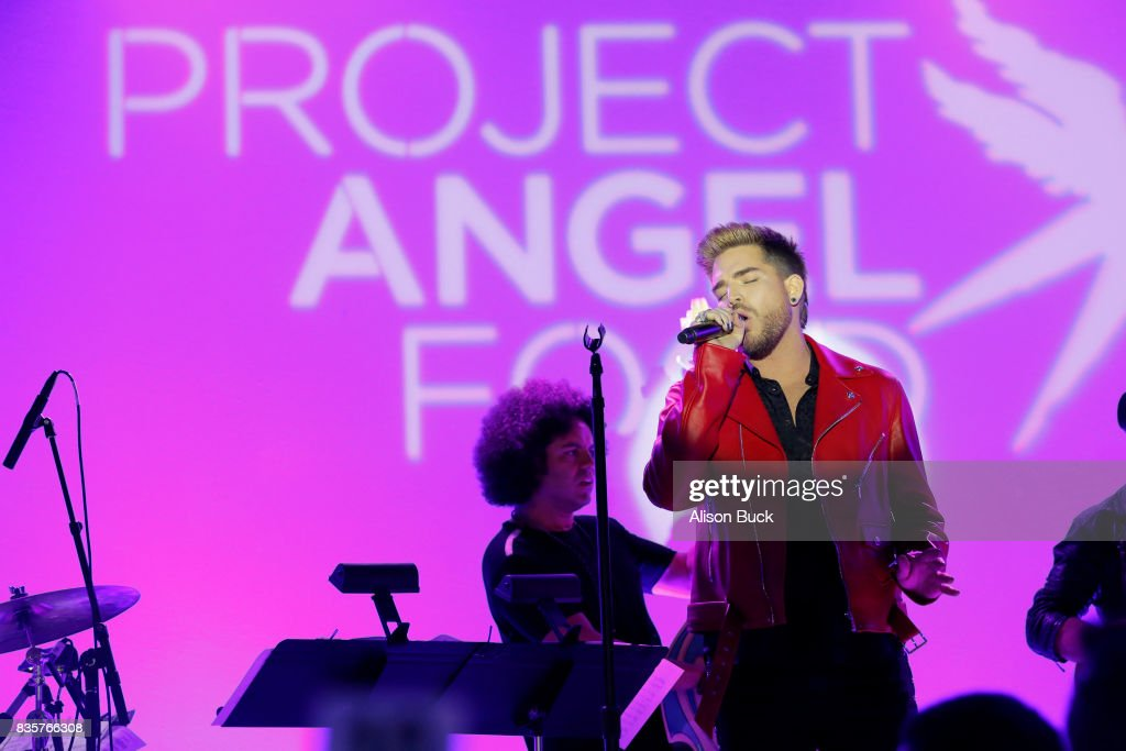 Singer/songwriter Adam Lambert performs onstage during Project Angel Food's 2017 Angel Awards on August 19, 2017 in Los Angeles, California.