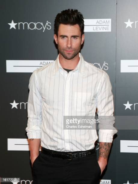 Singer/songwriter Adam Levine attends the Adam Levine Signature Fragrances Launch Event at Macy's Herald Square on February 15 2013 in New York City