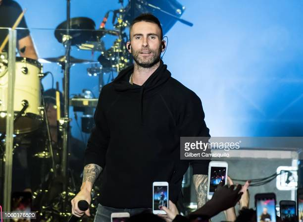 Singersongwriter Adam Levine of Maroon 5 performs during Philly Fights Cancer Round 4 at The Philadelphia Navy Yard on November 10 2018 in...