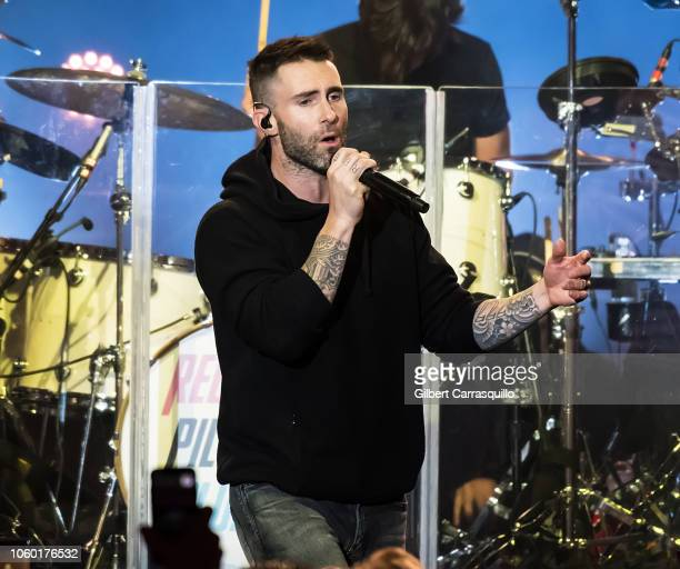 Singer-songwriter Adam Levine of Maroon 5 performs during Philly Fights Cancer: Round 4 at The Philadelphia Navy Yard on November 10, 2018 in...