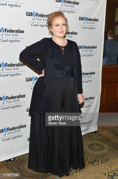 Singer/songwriter Adele attends UJAFederation Of New York Music Visionary Of The Year Award Luncheon at The Pierre Hotel on June 21 2013 in New York...