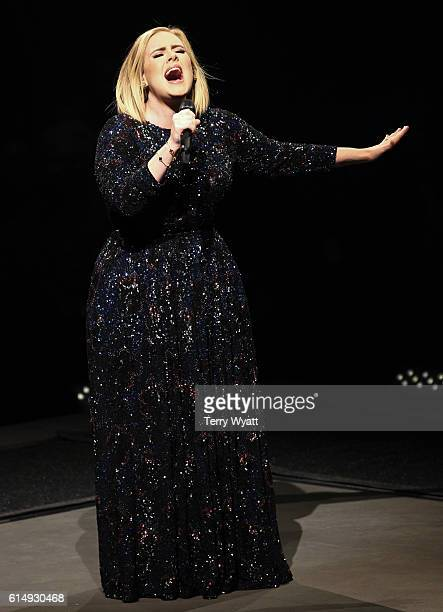 Singersongwriter Adele performs at the Bridgestone Arena on October 15 2016 in Nashville Tennessee