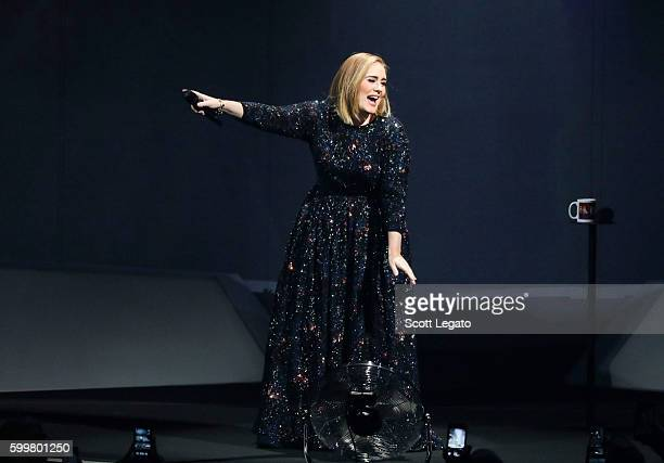 Singer/songwriter Adele performs at The Palace of Auburn Hills on September 6 2016 in Auburn Hills Michigan