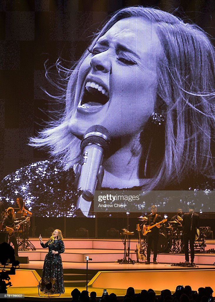 Singer-songwriter Adele performs onstage during her North American Tour at Pepsi Live at Rogers Arena on July 20, 2016 in Vancouver, Canada.
