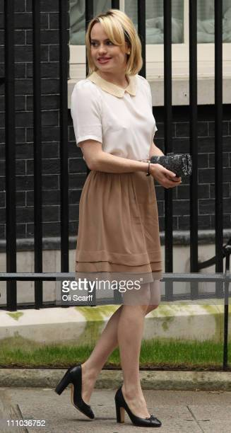 Singersongwriter Aimée Ann Duffy leaves Downing Street on March 29 2011 in London England The artist known as 'Duffy' attended a meeting hosted by...