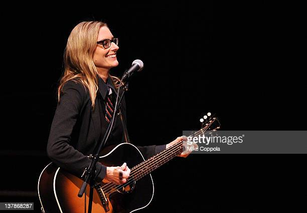 Singersongwriter Aimee Mann performs at Carnegie Hall on January 28 2012 in New York City