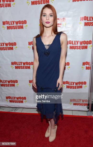Singer/songwriter Ainsley Ross attends 'ANNETTE America's Girl Next Door and the Queen of Teen exhibit opening night preview at The Hollywood Museum...
