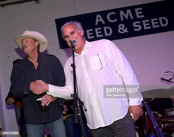 Singer/Songwriter Alan Jackson and CEO/Acme Tom Morales at Acme Feed Seed on September 10 2014 in Nashville Tennessee